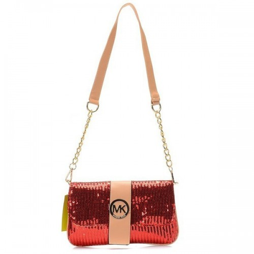 Michael Kors Fulton Messenger Small Red 005 Shoulder Bags