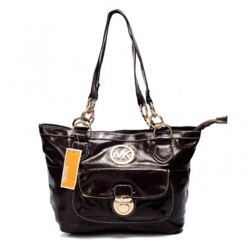 Michael Kors Chain Large Coffee Shoulder Bags