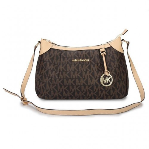 Michael Kors Jet Set Logo Medium Brown Shoulder Bags