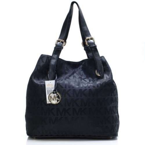 Michael Kors Logo Large Black Shoulder Bags