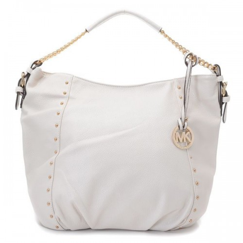 Michael Kors Logo-Print Large White Shoulder Bags
