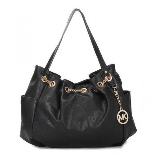 Michael Kors Chain Ring Large Black 005 Shoulder Bags