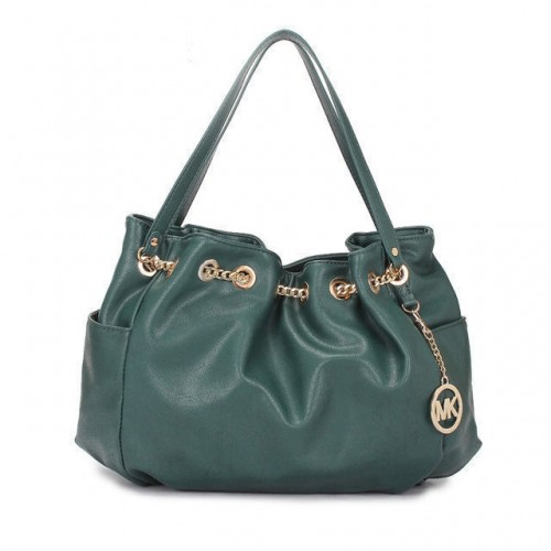 Michael Kors Chain Ring Large Green Shoulder Bags