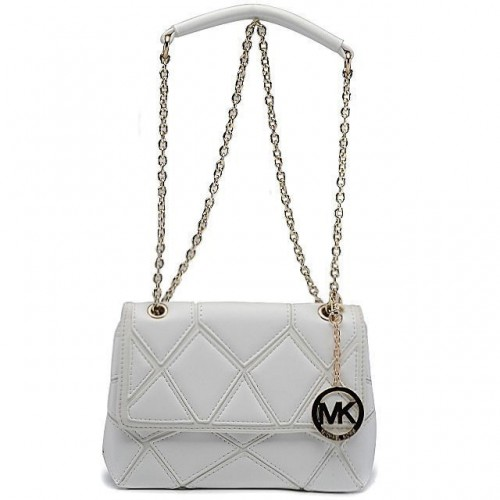 Michael Kors Sloan Large White Shoulder Bags