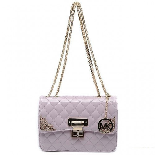 ichael Kors Sloan Chain Large Purple Shoulder Bags