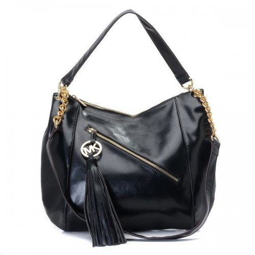 Michael Kors Chain Large Black Shoulder Bags