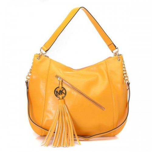 Michael Kors Charm Tassel Convertible Shoulder Bag Yellow