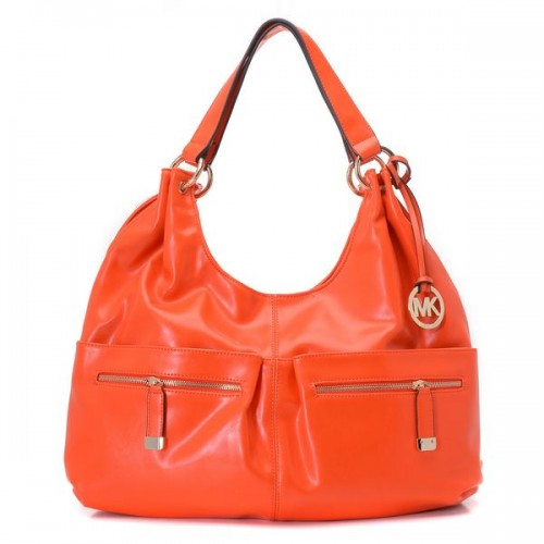 Michael Kors Large Layton Shoulder Tote Persimmon Leather