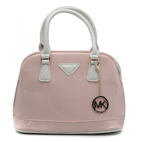 Michael Kors Smooth Leather Medium Pink Totes