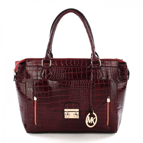 Michael Kors Embossed Medium Red All Totes