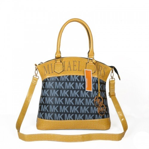 Michael Kors Logo Medium Navy Totes
