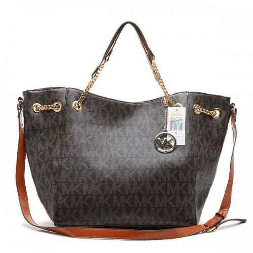 Michael Kors Chain Large Coffee Totes