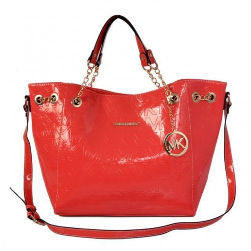 Michael Kors Signature Logo Large Red Totes