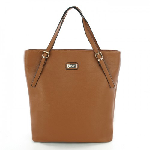 Michael Kors Gia Leather Large Brown Totes
