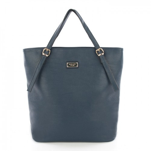 Michael Kors Gia Leather Large Navy Totes