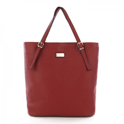 Michael Kors Gia Leather Large Red Totes