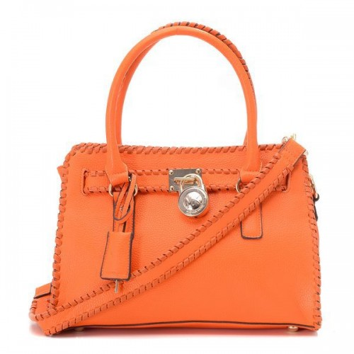 Michael Kors Braided Small Orange Totes