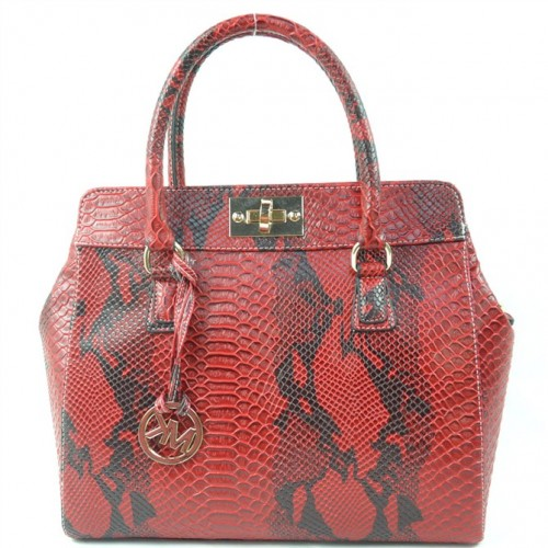 Michael Kors Embossed Large Red Totes