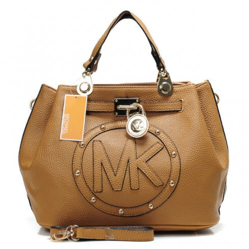 Michael Kors Large Logo Medium Tan Totes