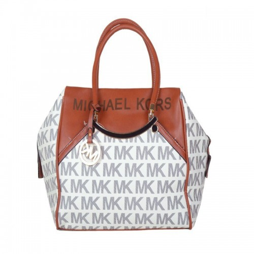 Michael Kors Logo Large Grey Totes