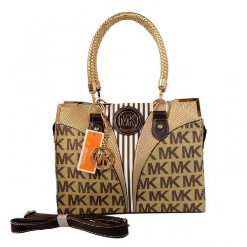 Michael Kors Logo Medium Beige Totes
