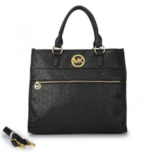 Michael Kors Logo-Print Medium Black Totes