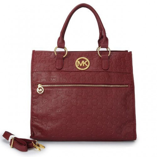 Michael Kors Logo-Print Medium Red Totes