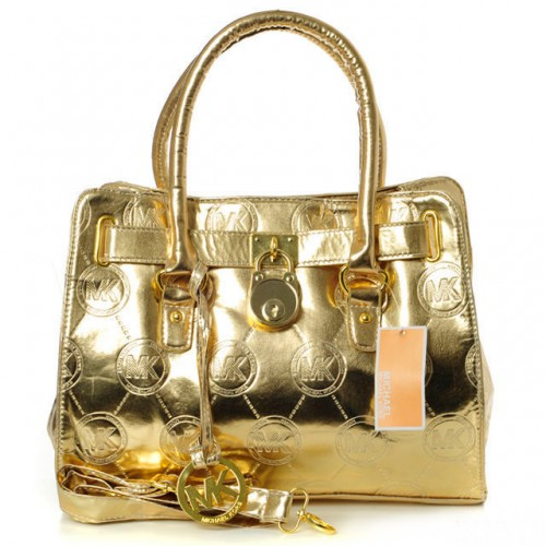 Michael Kors Metallic Small Gold Totes