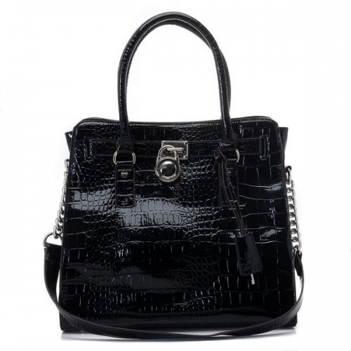 Michael Kors Python Continental Large Black Totes