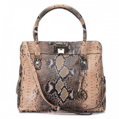 Michael Kors Python Embossed Large Brown Totes