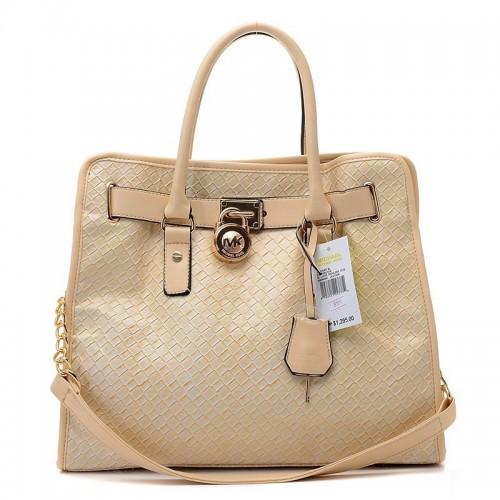 Michael Kors Sloan Quilted Large Khaki Totes