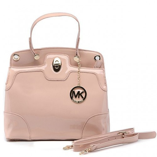 Michael Kors Smooth Leather Large Pink All Totes