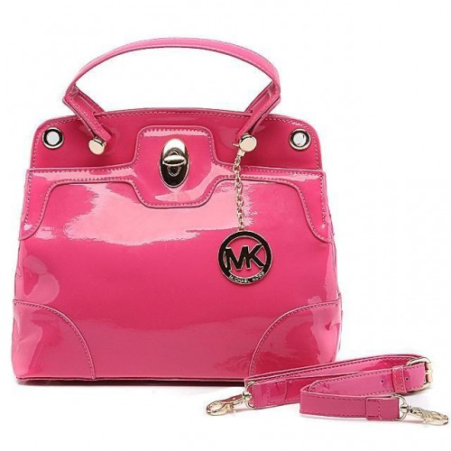 Michael Kors Smooth Leather Large Pink Totes