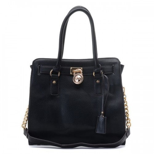 Michael Kors Smooth Outlook Large Black Totes