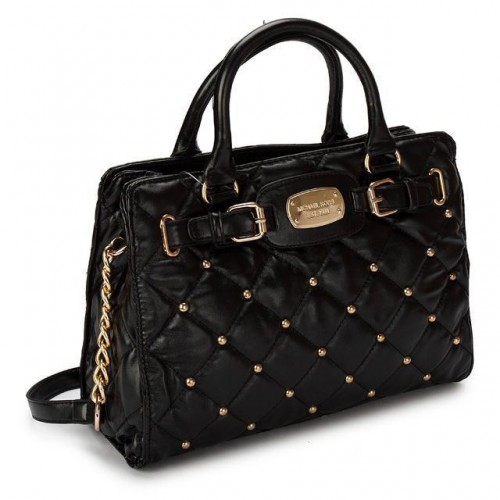 Michael Kors Stud Quilted Large Black Totes