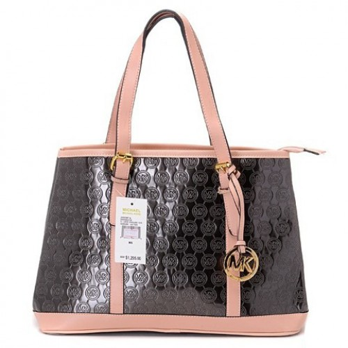 Michael Kors Amangasett Straw Large Brown Totes