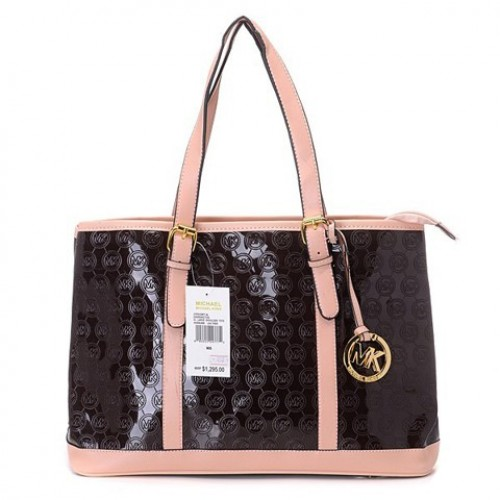 Michael Kors Amangasett Straw Large Coffee Totes