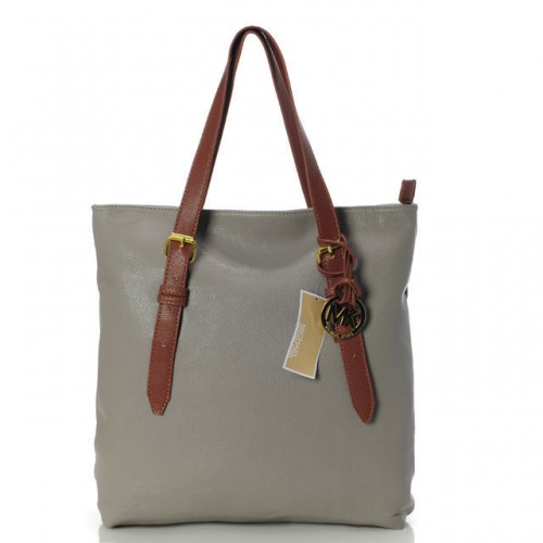 Michael Kors Amangasett Straw Large Grey Totes