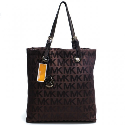 Michael Kors Jet Set Logo Large Coffee 08 Totes