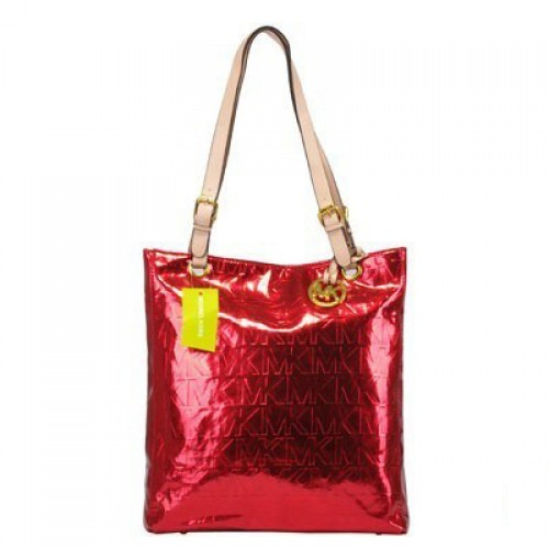 Michael Kors Jet Set Logo Large Red Totes