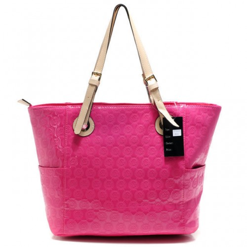 Michael Kors Jet Set Mirror Metallic Large Pink 01 Totes