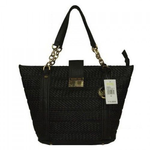 Michael Kors Knitted Large Black Totes