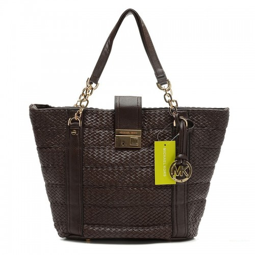 Michael Kors Knitted Large Coffee Totes