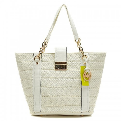 Michael Kors Knitted Large White Totes