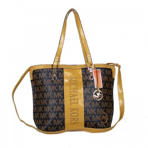 chael Kors Jet Set Logo Medium Coffee 01 Totes