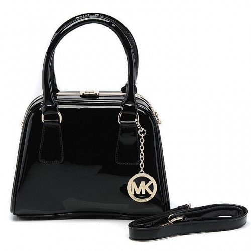 Michael Kors Lock Logo Large Black Totes