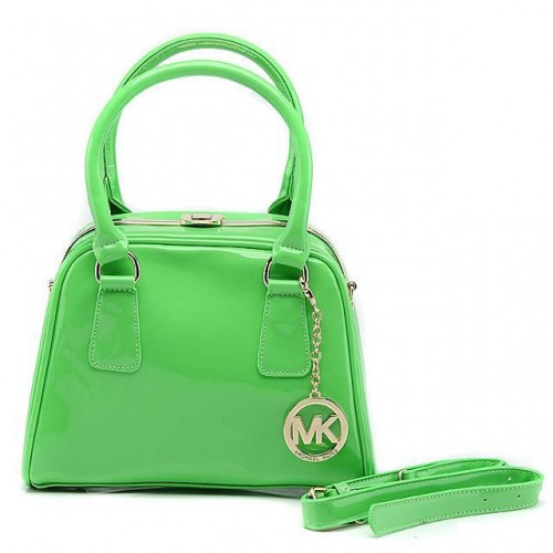 Michael Kors Lock Logo Large Green All Totes