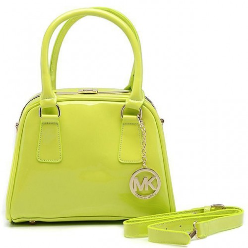 Michael Kors Lock Logo Large Green Totes