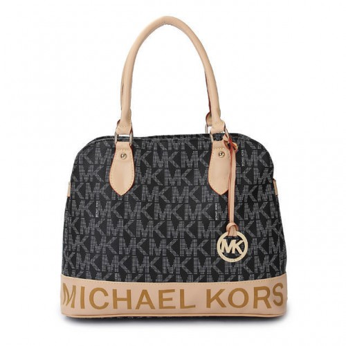Michael Kors Logo Large Black Totes