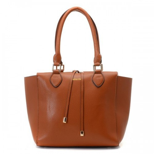 Michael Kors Miranda Pebbled Large Brown Totes